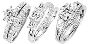 Sterling Silver Bridal Sets