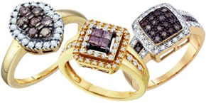 Chocolate Diamond Fashion Rings