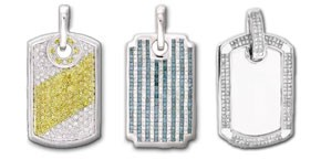 Men's Diamond Dog Tags