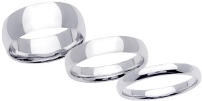 Plain Platinum Wedding Bands