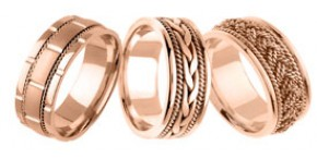 Designer Rose Gold Bands