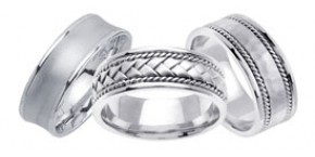 Designer Platinum Wedding Bands