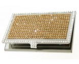 Gold Crystal Card Holder DZ-110G
