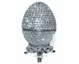 Platinum Crystal Decorative Egg DZ-166P