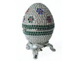 Platinum Flower Decorative Egg DZ-166PF
