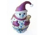 Snowman with Shovel Box DZ-168R