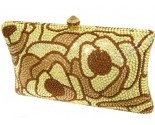 Golden Flower Crystal Purse DZ-339