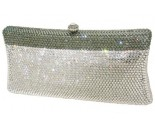 Two Tone Grey Crystal Purse DZ-360T