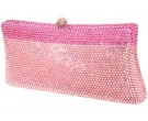 Two Tone Pink Crystal Purse DZ-360P