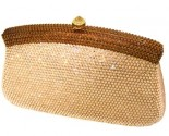 Two Tone Tan Crystal Purse DZ-366