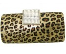 Leopard Purse With Crystal Clip DZ-62L