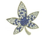 Purple Maple Leaf Pin DZ-733