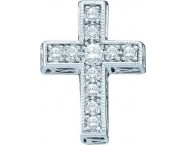 Ladies Diamond Cross Pendant 14K White Gold 0.25 cts. GD-39157