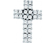 Diamond Cross Pendant 14K White Gold 0.34 cts. GD-53109