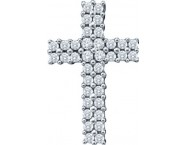 Diamond Cross Pendant 14K White Gold 0.46 cts. GD-53784