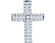 Diamond Cross Pendant 14K White Gold 0.50 cts. GD-53899 [GD-53899]