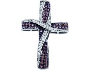 Diamond Cross Pendant 10K White Gold 0.57 cts. GD-65240 [GD-65240]