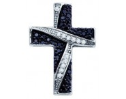Diamond Cross Pendant 10K White Gold 0.24 cts. GD-65638
