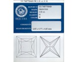 1.51 cts. Princess Cut Diamond H - I1 EGL