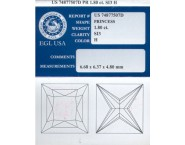 1.80 cts. Princess Cut Diamond H - S13 EGL