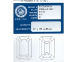 1.02 cts. Emerald Cut Diamond G - VS2 EGL