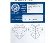 1.67 cts. Heart Shape Diamond I - SI2 EGL