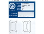 1.08 cts. Emerald Cut Diamond H - VS1 EGL