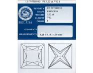1.02 cts. Princess Cut Diamond I - VS2 EGL