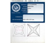 2.00 cts. Princess Cut Diamond H - I1 EGL