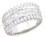Ladies Diamond Anniversary Band 14K White Gold 1.25 cts. A64-70361