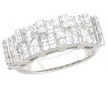 Ladies Diamond Anniversary Band 14K White Gold 2.00 cts. A64-R0511
