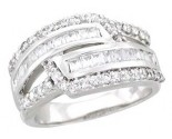 Ladies Diamond Anniversary Band 14K White Gold 1.10 cts. A64-R0517