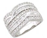 Ladies Diamond Anniversary Band 14K White Gold 1.50 cts. A64-R0519