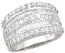 Ladies Diamond Anniversary Band 14K White Gold 1.80 cts. A64-R0520