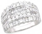 Ladies Diamond Anniversary Band 14K White Gold 2.00 cts. A64-R0521
