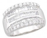 Ladies Diamond Anniversary Band 14K White Gold 1.50 cts. A64-R0523