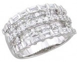 Ladies Diamond Anniversary Band 14K White Gold 2.10 cts. A64-R0532a