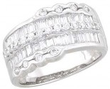Ladies Diamond Anniversary Band 14K White Gold 1.10 cts. A64-R0536