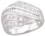 Ladies Diamond Anniversary Band 14K White Gold 0.60 cts. A64-R1538