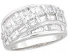 Ladies Diamond Anniversary Band 14K White Gold 1.60 cts. A64-R1539