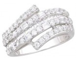 Ladies Diamond Anniversary Band 14K White Gold 0.95 cts. A64-R1544