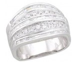 Ladies Diamond Anniversary Band 14K White Gold 1.15 cts. A64-R1545