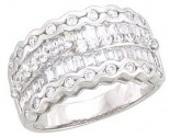 Ladies Diamond Anniversary Band 14K White Gold 1.50 cts. A64-R1547
