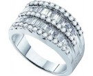 Ladies Diamond Anniversary Band 14K White Gold 1.00 ct. GD-13989