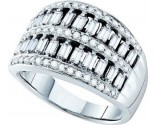 Ladies Diamond Anniversary Band 14K White Gold 1.00 ct. GD-26153