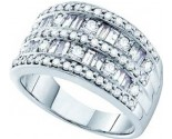 Ladies Diamond Anniversary Band 14K White Gold 1.25 cts. GD-28191
