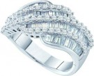 Ladies Diamond Anniversary Band 14K White Gold 1.72 cts. GD-28193