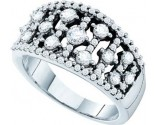 Ladies Diamond Anniversary Band 14K White Gold 1.00 ct. GD-38721
