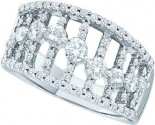 Ladies Diamond Anniversary Band 14K White Gold 1.03 cts. GD-38723