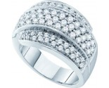 Ladies Diamond Anniversary Band 14K White Gold 1.50 cts. GD-38749